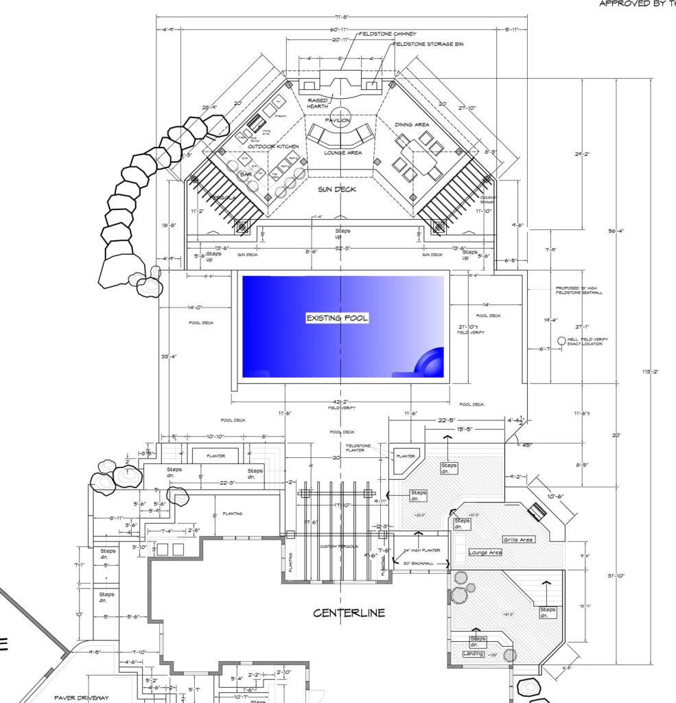 clifton va pool landscape plan