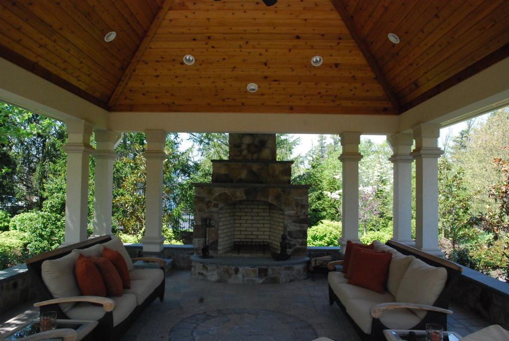 Fireplace pavilion Potomac MD