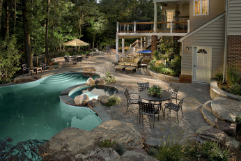 Darnestown MD Resort Pool & Waterfalls