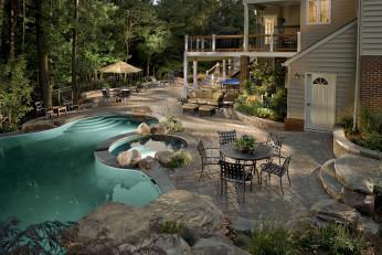 Darnestown MD Resort Pool & Waterfalls