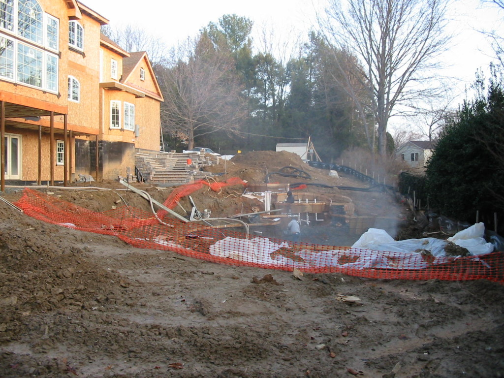 progress pic Vienna VA pool
