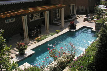 Hillside Landscaping and Pool in Chevy Chase MD