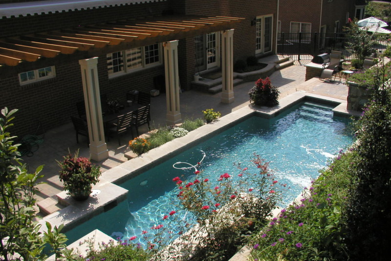 Hillside Landscaping and Pool in Chevy Chase MD - Land & Water ...