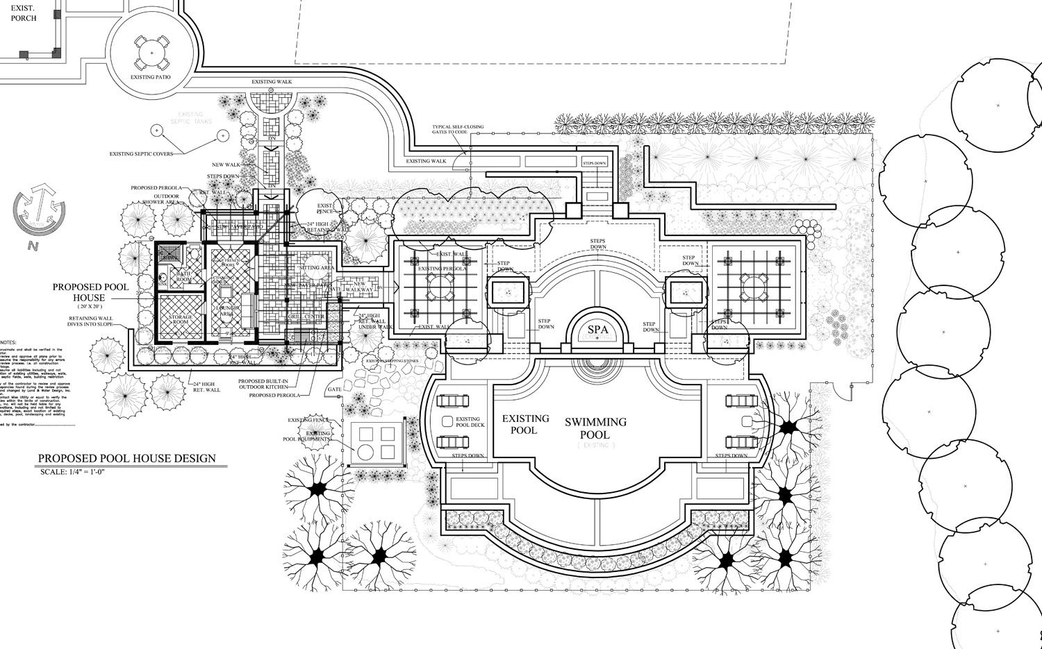 Pool landscape with amazing views in leesburg va land for Swimming pool site plan