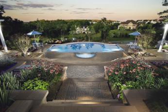 Pool Landscape with Amazing Views in Leesburg VA